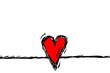 rotes Herz mit schwarzem Rand...