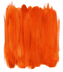 Abstract orange watercolor background.
