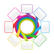 Eight elements circle - colorful design template