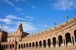 Plaza de Espana Colonnade in Seville