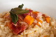 sweet potatoes risotto with sage