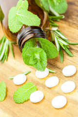 Alternative medicine with herbal homeopathic pills