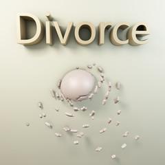 Divorce - 3d Rendering