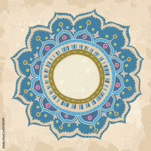 Hand drawn round ornament