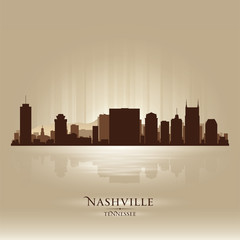 Nashville Tennessee skyline city silhouette
