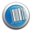 code-barres sur bouton bleu