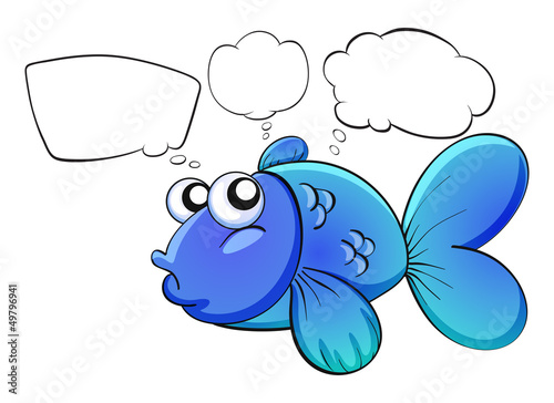 A blue fish with empty callouts