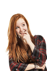 portrait of young beautiful redheaded woman