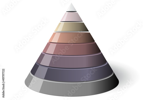 Vector Cone Eight Levels, Illustration 3d Shape