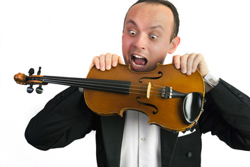 Agressiver Musiker