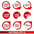 Set of vector stickers and adhesive