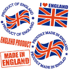 Product of England stamps