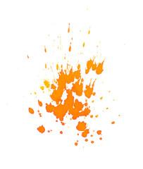 Orange Farbspritzer