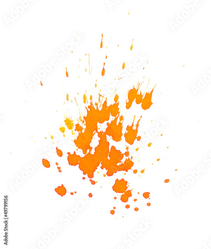 canvas print picture Orange Farbspritzer