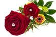 Zwei rote Rosen