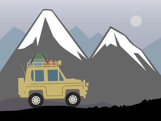 Off-road vehicle, vector illustration