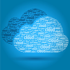 Cloud Computing Words Concept