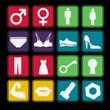 Toilet Sign Icon Basic Style