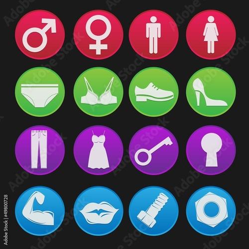 Toilet Sign Icon Gradient Style