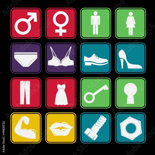 Toilet Sign Icon Basic Style