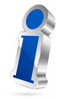 Information Sign 3D Blue/Silver