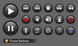 The black audio buttons