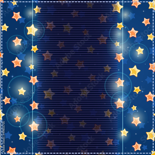 Blue Card with Yellow Stars in Sky