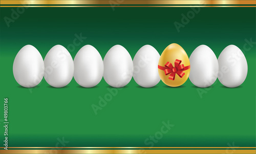 Golden egg concept background.