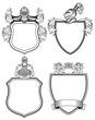 Ritter Schilder und Wappen