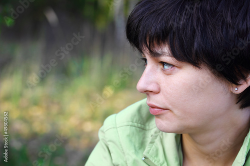 portrait of a beautiful pensive woman