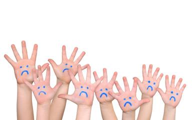 traurige Kinderhände
