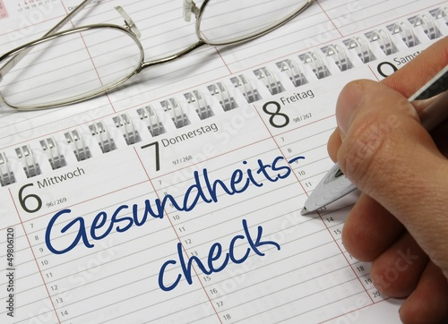 Kalender Gesundheitscheck - 49806120