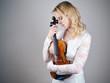 Violinist like her Instrument