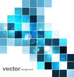 abstract blue colorful mosaic whit background vector design