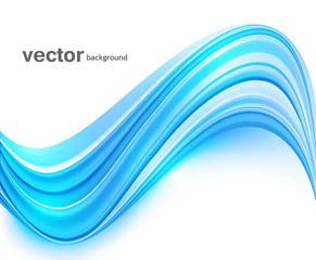 abstract blue bright colorful technology wave whit background ve