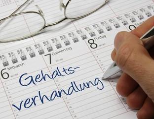 Kalender Gehaltsverhandlung