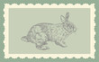 Vintage hand drawing rabbit vector eps 8