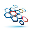 hexagonal abstract icon