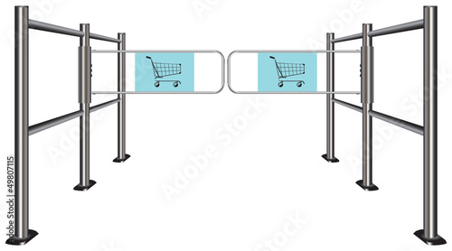 Turnstile for shopping carts