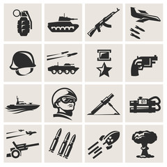 Army. Icons in a vector
