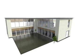 Bürogebäude L-Form