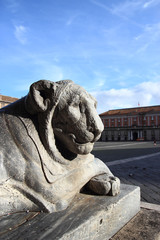 Lion statue in Naples , Italy