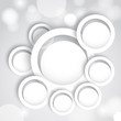 Abstract background with white circles