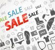 Time to shopping. Sale icons