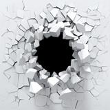 Fototapety Destruction of a white wall
