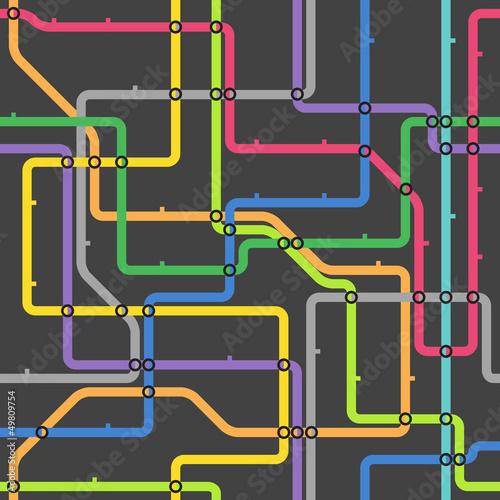 Foto op Plexiglas Op straat Abstract color metro scheme