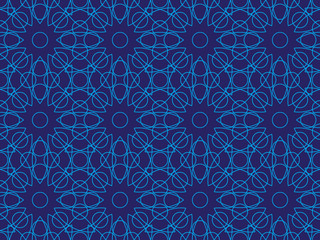 blue abstract seamless lines pattern