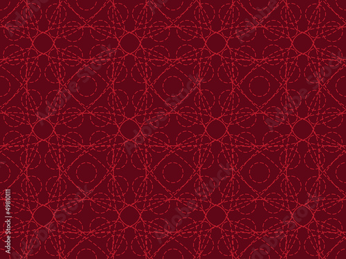 red seamless entangled lines pattern