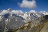 nuvole sul monte bianco
