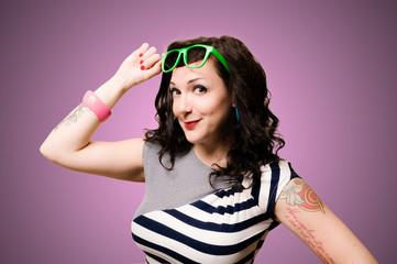 tattoed pinup girl